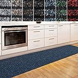Küchenläufer Granada in großer Auswahl   strapazierfähiger Teppich Läufer für Küche Flur uvm.   rutschfester Teppichläufer / Flurläufer für alle Böden ( 80x100 cm Blau )
