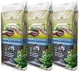 Floragard Kleeschulte Anzucht und Kräutererde 3x20 L • 22% Klimavorteil • wertvollen nachwachsenden Rohstoffen • 60 L