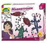Lena 42006 - Bastelset Rocailles Perlenwebrahmen inklusive Glasperlen, 8 Farben