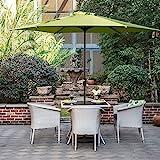 Grand patio Gartenschirm Kurbelschirm Sonnenschutz UV-Schutz Sonnenschirm Ø 270CM, rund, Grün