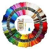 Mitening Stickgarn, Embroidery Threads Floss Sticken Set Weicher Baumwollgarn Garn für Freundschaftsbänder Stickerei Kreuzstich Basteln Nähgarne Häkeln 8M 6-Fädig (100 Farben)