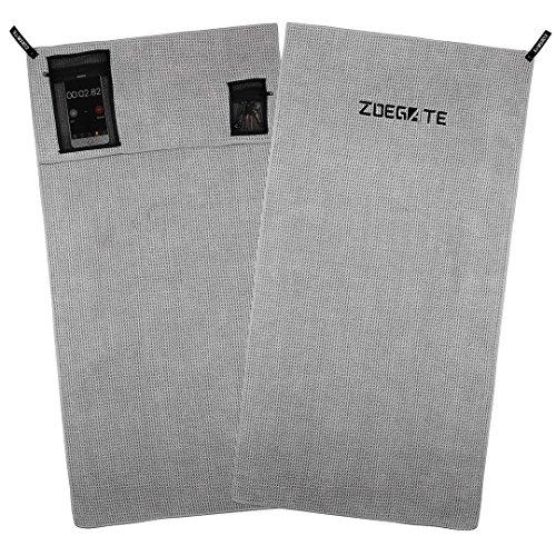 Zoegate Sporthandtuch Fitness-Handtuch fürs Fitnessstudio Mikrofaserhandtuch Mikrofaser Handtücher mit Reißverschluss-Taschen Gym Handtuch Fitness Handtücher Multifunktionshandtuch Microfaser Handtuch 100x50 CM