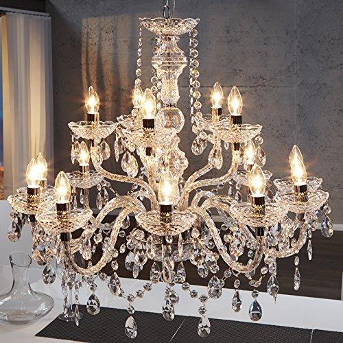 Riesiger XL Kronleuchter 15-armig Lüster klar Hängelampe Leuchter Lampe