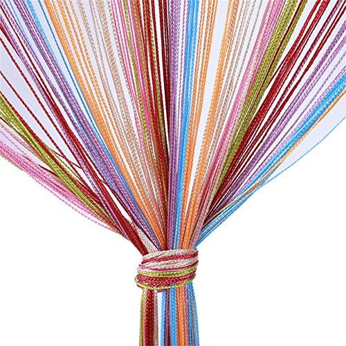 Vidillo Fadenvorhang, Fadenvorhang Glitzer weiss 100 x 200 cm Wandvorhang Schaufensterdekoration, Dekorative Gardine Raumteiler Fliegenschutz für Hochzeit, Café, Restaurant (Mehrfarbig)