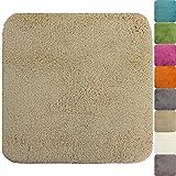 proheim Badematte 50 x 50 cm rutschfester WC-Vorleger Premium Badteppich 1200 g/m² weich & kuschelig Hochflor Duschvorleger, Farbe:Grau