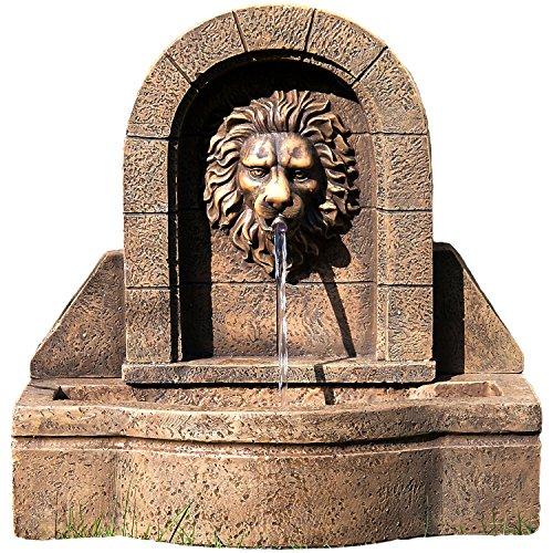 """STILISTA Gartenbrunnen Modell """"LEON"""" mit Löwenkopf Springbrunnen 50 x 54 x 29 cm inkl. Pumpe"""