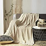 VOIMAKAS Kuscheldecke Couch Tagesdecke Warme Decke, TV-Decke Große Weiche Baumwolle Sofadecke Sessel überwurf Decke Bett Stuhl Bezug mit Zierstich Einfassung für Lesen, Buntes Muster, 150cm*190cm