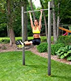 Einfach-Turnreck TOLYMP Starterhorn eine Klimmzugstange/Turnstange/Turnreck für Outdoor-Fitness, hochwertig aus Edelstahl, für den Garten und die ganze Familie