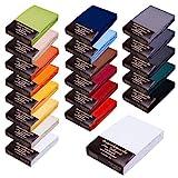 SPANNBETTLAKEN WASSERBETTEN BOXSPRINGBETTEN 180x200 bis 200x220 170gr Öko Tex Zertifikat Avantgarde 100% Baumwolle 19 Farben