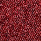 20 Stück Teppichfliesen Bodenfliesen Teppich 50 x 50 cm Gesamtfläche 5 m² (Fieberrot)
