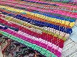 Fair Trade Second Nature Fransen Jahre Chindi Flickenteppich, mehrfarbig,-Menü von vierzehn Größen erhältlich!, baumwolle, Multi Colours, 60 x 90 cm