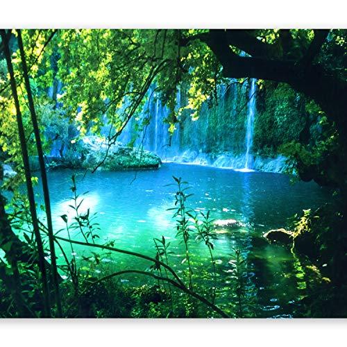 murando - Fototapete selbstklebend Natur 392x280 cm decor Tapeten Wandtapete klebend Klebefolie Dekofolie Tapetenfolie - Landschaft Wasserfall c-B-0132-a-a