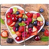 Herdabdeckplatten aus Glas m. Noppen von DekoGlas 2er-Set Herdabdeckung Schneidebrett Spritzschutz Früchte