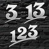 Hausnummer Edelstahl Sonderanfertigung ( 2-stellig / 16cm Ziffernhöhe ) - 16cm 20cm 30cm - ORIGINAL ALEZZIO DESIGN - V2A - Türschild - Größer auf Anfrage - Rostfrei - WITTERUNGSRESISTENT …