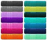 Lashuma Frottee Handtuchset für Gäste, Farbe: Capri Blau, 4er Pack Gästehandtücher 30x50 cm, Material: 100% Baumwolle