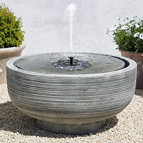 TekHome 2019 Solar-Wasserbrunnen, Vogelbad, Solar-Wasser-Eigenschaften für den Garten, schwimmender Solarbrunnen, Solarpanel, Wasserpumpe für Teich/Pool, solarbetriebene Wasser-Funktion.