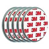 ECENCE Rauchmelder Magnethalter 5 Stück Selbstklebende Magnethalterung für Rauchmelder Ø 70mm schnelle & sichere Montage ohne Bohren und Schrauben für alle Feuermelder und Rauchwarnmelder 45020108005