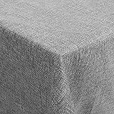 femor Tischdecke Tischtuch 150x200 cm Leinenoptik Lotuseffekt Wasserabweisend Fleckschutz pflegeleicht schmutzabweisend abwaschbar Tischwäsche Eckig Grau