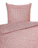 Landhaus Bettwäsche in rotem Karo 1x1 cm mit Hotelverschluss (Bettbezug 135x200 cm)