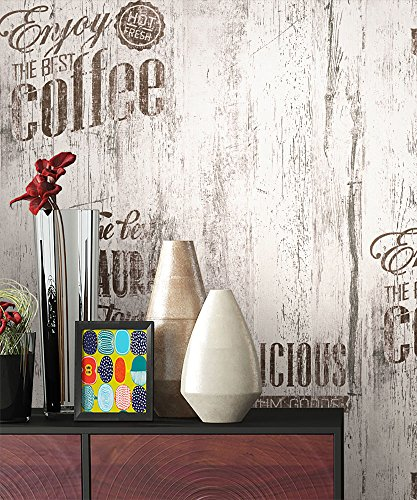 NEWROOM Landhaus Tapete Braun Papiertapete Grau Papier moderne Design Optik Holztapete Holzwand Naturholz Holzpaneele inkl. Tapezier RatgeberNEWROOM Land