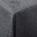 WOLTU TD3041gr Tischdecke Tischtuch Leinendecke Leinen Optik Lotuseffekt Fleckschutz pflegeleicht abwaschbar schmutzabweisend Farbe & Größe wählbar Eckig 135x180 cm Grau