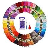 Stickgarn Embroidery Threads 144 Docken Sticktwist Fuyit Nähgarne Stickerei Basteln Crafts Floss Set 8m 6-fädig Bunt Multicolor für Kreuzstich Basteln Freundschaftsbänder