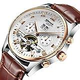 Sharplace Herren Chronograph wasserdicht Armbanduhr Datum Kalender Luxus Analoganzeige Uhr Wasserdicht Sport Business Freizeit Armbanduhren