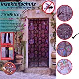 Insektenschutzvorhang Blumen & Vögel magnetisch Fliegengitter Tür Insektenschutz Magnetvorhang 210x90cm