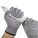 Keepwin Hochleistung Schnittschutz Handschuhe Leicht 5 Handschutz Ebene, lebensmittelecht schnittfeste Handschuhe (S, Schwarz)