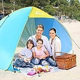 Strandmuschel, Bfull Pop up Zelt, 230cm x 175cm x 145cm Größeres Zelt Tragbares Strand-Zelt mit LSF50+, UV- Schutz für 1-4 Personen