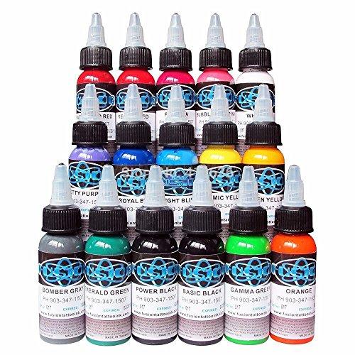 16 Stück Tinte für Tattoo-Set Microblading Pigment für Permanent Make-up 30ml Farbe für Tattoo für Augenbraue Eyeliner Ganzkörper-Lippe 16 Farben