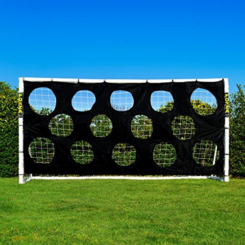 Torwand für Fußballtore, robuste Zielschussplane zur Anbringung an Fußballtoren [Net World Sports] (Torwand 3x2m)