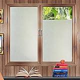 Fensterfolie Zindoo Sichtschutzfolie Ohne Kleber Statisch Folie Milchglasfolie Gute Privatsphäre Schutz für Badezimmer, Duschkabine Sowie Türen, Umkleide und Konferenzräume