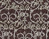 Barock Tapete EDEM 9016-36 Vliestapete geprägt mit floralen Ornamenten und metallischen Akzenten braun perl-beige 10,65 m2