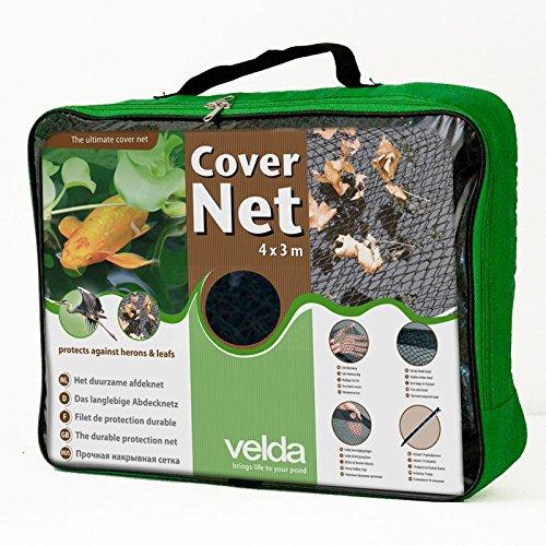 Teichnetz 4x3m schwarz Teichabdeckung Reiherschutz Laubschutznetz Abdecknetz