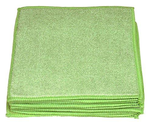 Sonty 10 Stück Schwammtücher XL, Spültücher Microfaser 23 x 23 cm (grün)