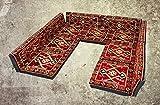 Nesbelle 13 Teilige Set Sark Kösesi Orientalische Sitzecke, Sitzkissen Set Rot ohne Teppich (13-TLG Set)