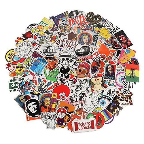 Aufkleber Pack 200 Stücks Xpassion Wasserdicht Vinyl Stickers Graffiti Decals Stickerbomb für Auto Motorräder Fahrrad Skateboard Snowboard Gepäck Laptop Macbook Computer iPhone iPhone PS4 Xbox One Nintendo Switch und mehr