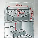 Spirella Duschspinne Duschfaltschirm 'Ombrella' transparent Duschvorhang