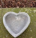 Garten Deko ' Pflanzschale Herz *, massiver Steinguss, frostfest bis -30°C