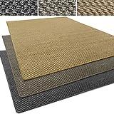 Sisal Läufer / Teppich Tiger-Eye   Sisalteppich in verschiedenen Farben   Naturfaser   Rutschfest   viele Größen zur Auswahl (Anthrazit, Teppich / Läufer 80x150cm (BxL))