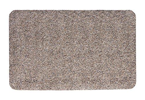 andiamo 700615 Fußmatte Samson / Sauberlaufmatte aus Baumwolle in Granit / Schmutzmatte mit rutschhemmendem Rücken / 1 x Fußabtreter (100 x 150 cm)