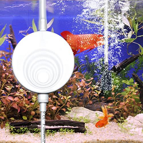 ELETEK Superleise Superminiluftpumpe mit elektromagnetische Welle, die Luftpumpe für das Aquarium, Sauerstoff-Pumpe 50 Liter [3 Jahre Garantie] (Weiß)