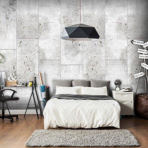 murando - PURO TAPETE - Realistische Tapete ohne Rapport und Versatz - Kein sich wiederholendes Muster - 10m Vlies Tapetenrolle - Wandtapete - modern design - Fototapete - Textur Beton grau f-C-0011-j-a