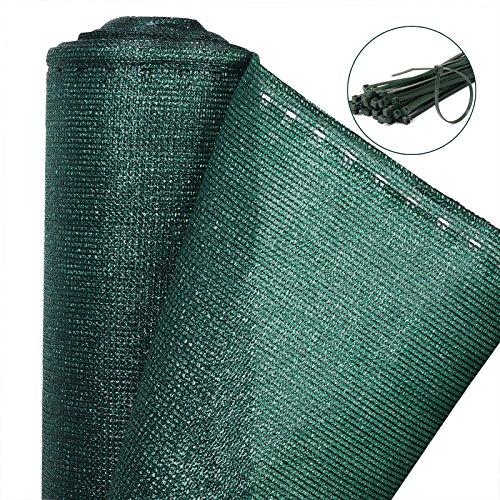 WOLTU Zaunblende Tennisblende Schattiernetz Sichtschutz Windschutz Staubschutz Sonnenschutz Gewebe Netz mit Kabelbinder