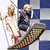 Kleine Mehrkindschaukel STANDARD silber/blau für 2 Kinder, 109 x 53 cm (SPR.M.102) - das Original direkt vom Hersteller die-schaukel.de