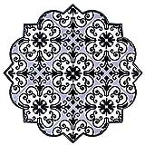 BOHORIA Premium Design Keramik Topfuntersetzer - Dekorative Untersetzer für Vasen, Töpfe, Karaffen und Flaschen auf ihrem Esstisch aus Holz, Glas oder Stein (sternförmig   18cm) (Almeria)