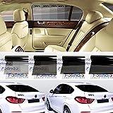Solar Screen Profi Auto Tönungsfolie tief schwarz 95% Scheibenfolie 76cm Breite BLACK PLUS 95c Scheibentönungs-Folie ink ABG