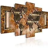 murando - Acrylglasbild Weltkarte 200x100 cm - 5 Teilig - Glasbilder - Wandbilder XXL - Wandbild - Bilder k-C-0012-k-n