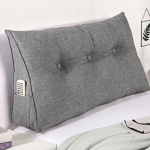maxVitalis Bett-Rückenstütze Keilform Rückenlehne Rückenstützkissen für Bett & Sofa, 100 cm breit, grau